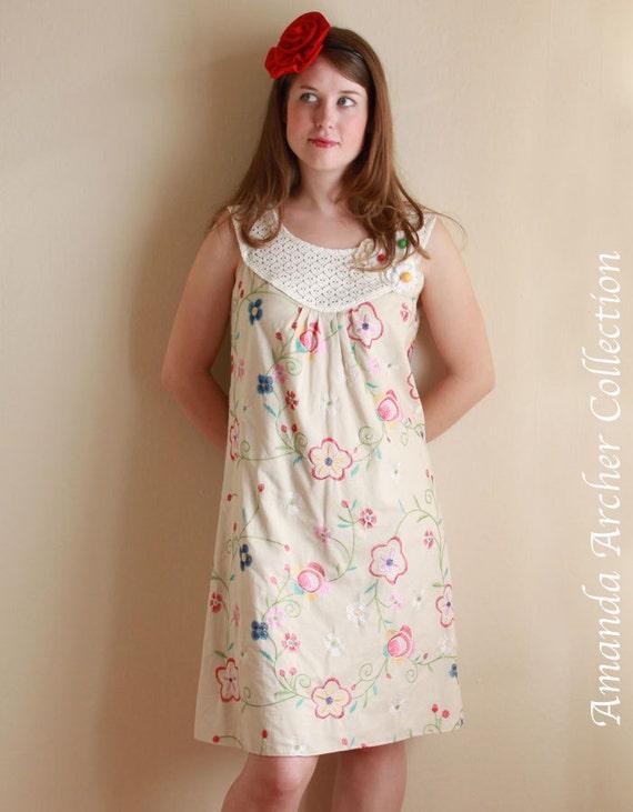 RESERVED for BRANDEE custom sized Garden Party Dress