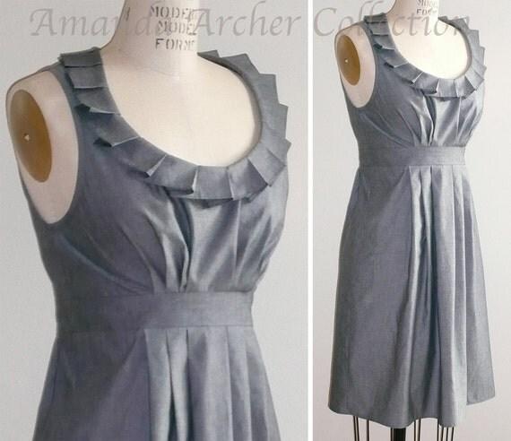 RESERVED for HEATHER herringbone gray bridesmaid dress RACERBACK 10/11