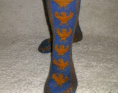 Ravenclaw Pride Socks PDF Knitting Pattern