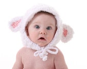 Lamb hat Crochet Pattern - Cute for Easter - Instant Download