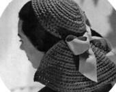 Calot Hat - 1940s Vintage Pattern Digitally Restored PDF e-Book - Instant Download
