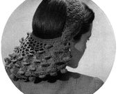 Snood - Hat  -  Hair Cover - 1940s Vintage Pattern Digitally Restored PDF e-Book - Instant Download