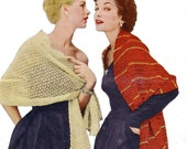 1940s Vintage Stole Patterns 2 for 1 Digitally Restored PDF e-Book - Instant Download