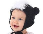 Little Stinker Skunk Ear Flap Hat or Mohawk Hat -  CROCHET PATTERN - Instant Download