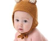 Adorable Fox Hat -  CROCHET PATTERN - Instant Download