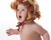LION Ear Flap Hat Crochet PATTERN - Instant Download