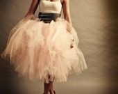 Adult Tutu Shabby Chic Pink Cocktail Length Perfect for Weddings and Portraits  All Sizes