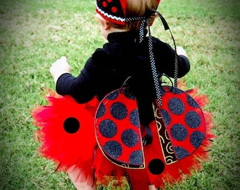 Toddler Lady Bug Tutu Makes Great Costume Photo Prop