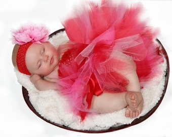 Red Hot Baby Tutu Perfect for Birthdays and Photo Props
