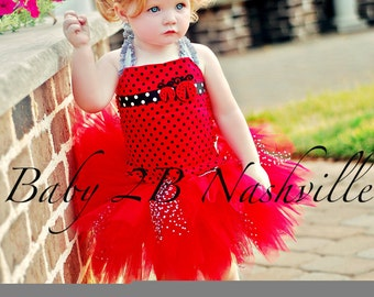 Lady Bug Tutu Dress Baby and Toddler Size