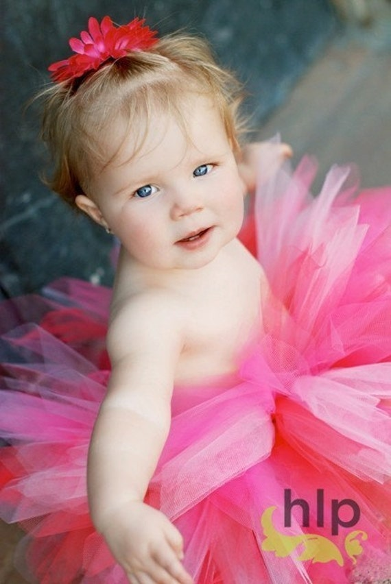 Toddler Birthday Tutu...Pink and Coral  or Blush  Photo Prop