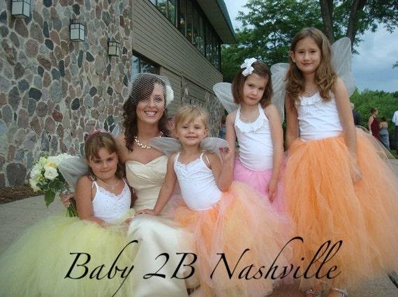 Wedding Dress Skirt Flower Girl Dress Skirt Girls Skirt Tutu Skirt Tulle Skirt Baby Skirt Toddler Skirt Baby Tutu Skirt Toddler Tutu Skirt