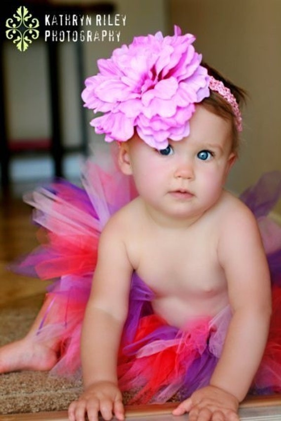 Toddler Tutu in Purple Birthday Bash Colors