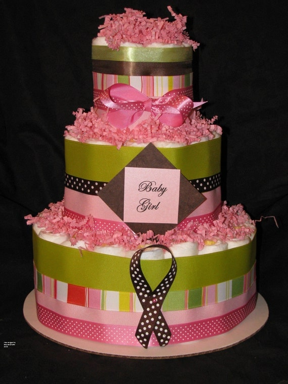 Candy land girls diaper cake centerpiece baby gift
