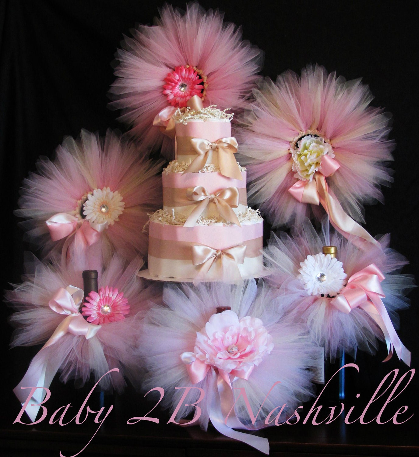 blush baby shower decorations package includes by baby2bnashville