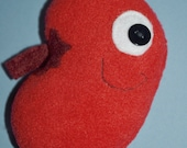 RESERVED Custom Order for MontyAndMarwood - Plush Kidney - Soft toy organ