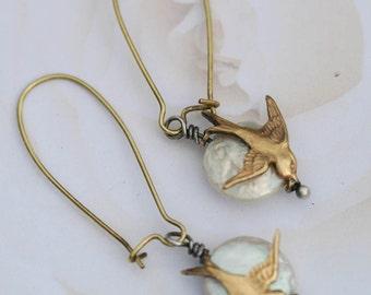 Pearl Sparrow Earrings