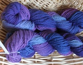 """Two Skeins Cormo Flock Sock in """"Clematis"""""""
