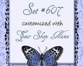 Premade Etsy Shop Set - Banner, avatar, business card and more - Set 607