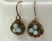 Itty Bitty Birds Nest Earrings