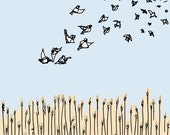 bird art print: migration (important message)