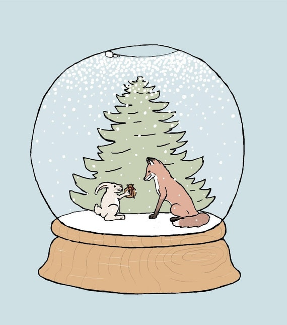 holiday art print: global warming
