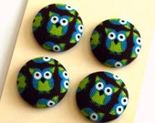 RESERVED for Tina -- 12 loose owl buttons