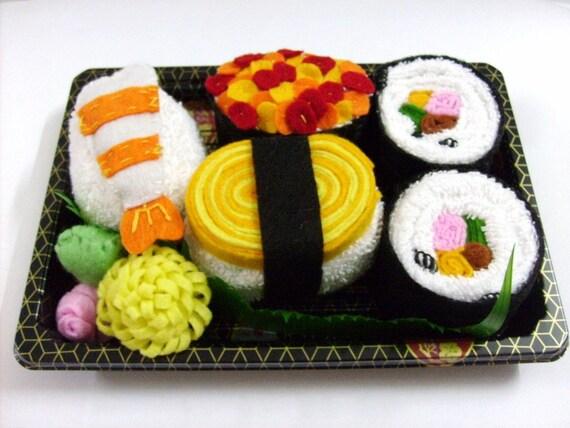 Japanese Towel Cake Recipe: Felt And Towel Sushi Set 8 Pieces