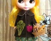 RESERVED - Broccoli and Apple Coat in Brown for Blythe