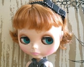 Classic Black and White Bow Headband for Blythe or BJD