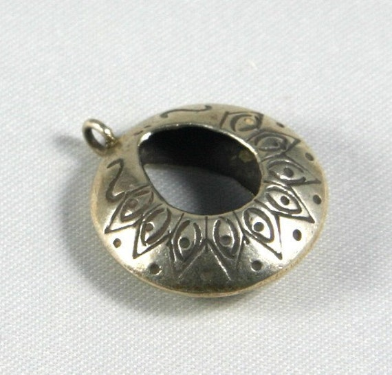 Hilltribe Silver Patterned Pendant or Earring Finding