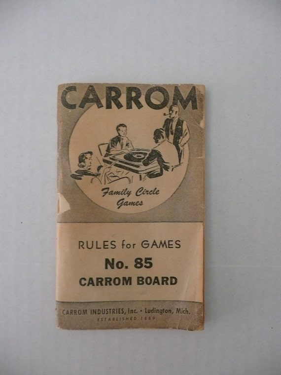 Vintage Carrom Rules for Games Booklet