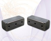 1 (2 pcs) Magnetic Jewelry Clasp Extra-Strong Clasp Gunmetal Gray 3-Hole Clasp 16mm x 6mm