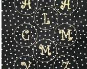 You Design TLB Monogrammed Letter Initial Material for covered buttons