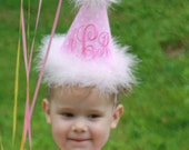 TLB Custom Boutique Monogrammed Crown Princess Personalized Birthday Party Hat Boy Girl