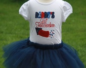 TLB Custom Designed Patriotic Fourth of July Fireworks Tutu and Personalized T shirt set