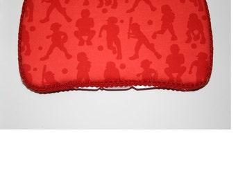 Rare Michael Miller Baseball Baby Wipes Case - Travel - Carrier - Diaper Changing - Sports - Fan - Baseball - Baby Shower - Gift