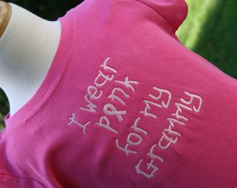 TLB Breast Cancer Awareness Tshirt Customized for Grandma Aunt Mom Donation with each shirt