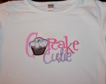 TLB Boy or Girl Personalized Birthday Boutique Cupcake Cutie Embroidered Shirt