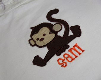 TLB Boy or Girl Monkey Personalized Birthday Boutique T Shirt