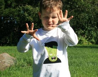 TLB Frankenstein Halloween Appliqued TShirt