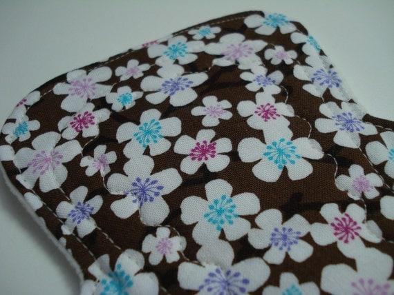 9.25 inch Extra Absorbent Bamboo/Organic Cotton Cloth Menstrual Pad