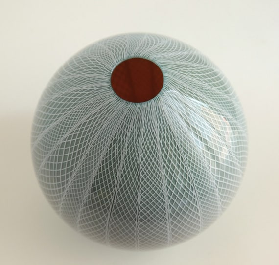 Lotus Bud, Hand Blown Glass Vase