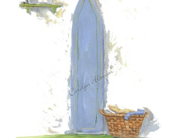 A Women's Work is Never Done a laundry room art print  8x10 by Carolyn Altman