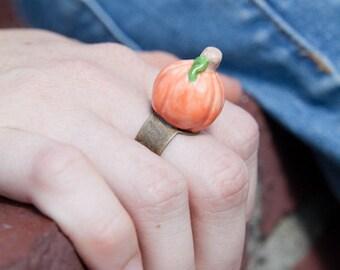 Ceramic Pumpkin Ring