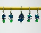Slytherin Stitch Markers