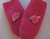 Pink Flower Infant Mittens