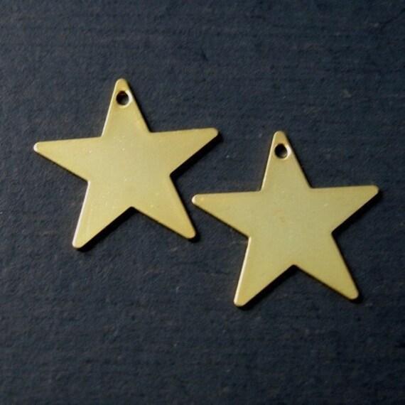 Star Drop, 10pcs, Gold Plated, 17x17mm, SBC-033