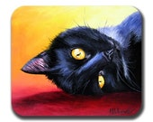 Van Gogh's Cat Art Print Mouse Pad Mat