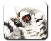 Bright Eyed Lemur Art Mouse Pad
